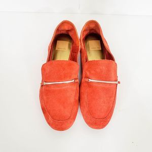 Dolce Vita Red Suede Leather Moccasins Shoes 7
